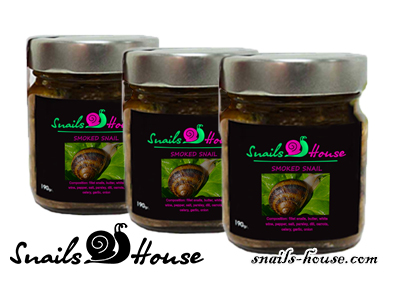 Helix Aspersa Maxima smoked snails
