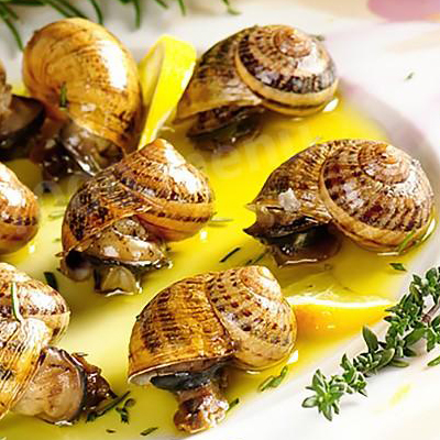 What is the difference between French and other receipts of snails?